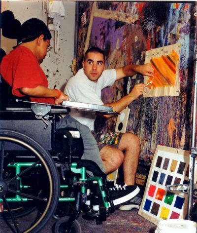James Lane Working on a Painting