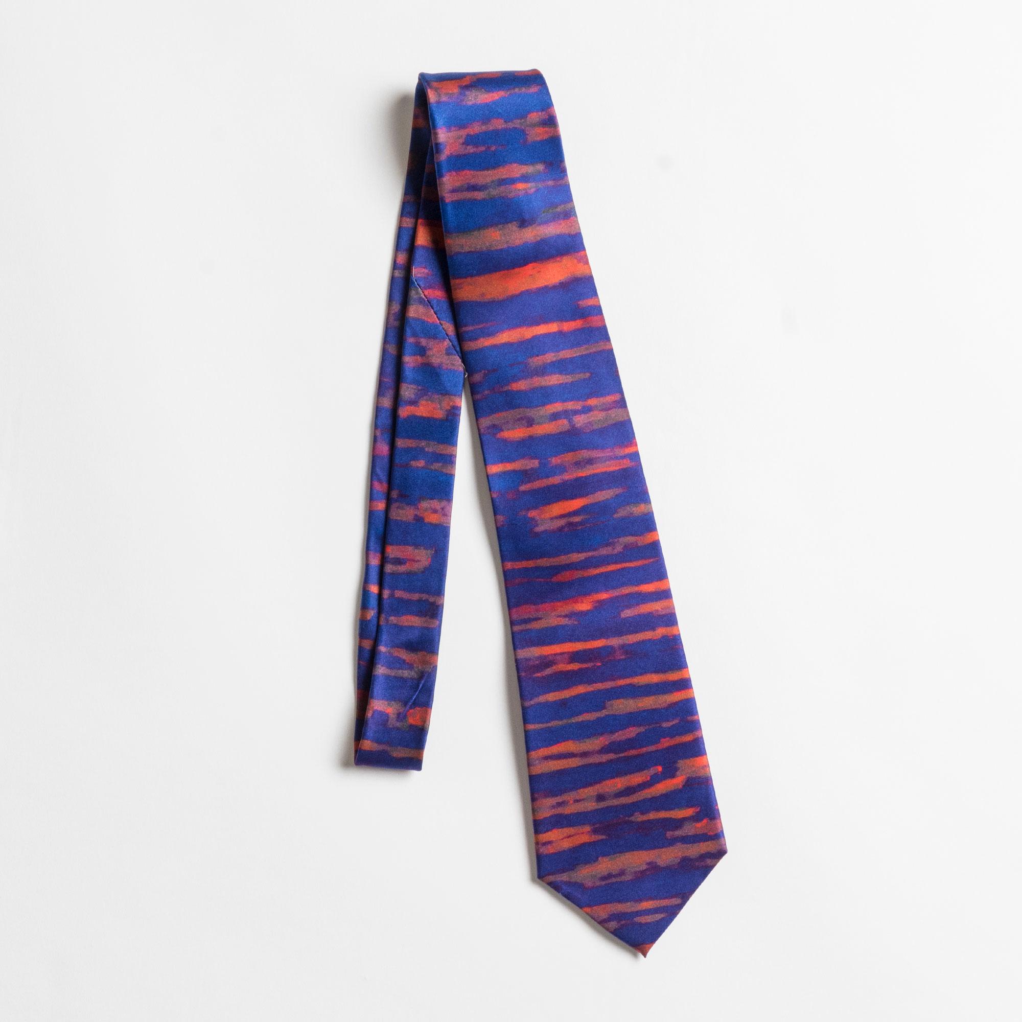 Silk Tie based on Held between Bars by TJ Christian