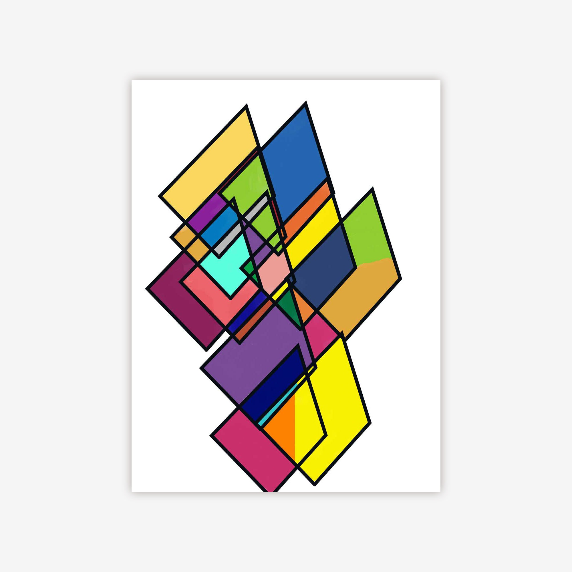 Stained Glass Triangle Maze by Cheryl Chapin