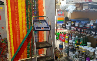 Andy's painting in Studio