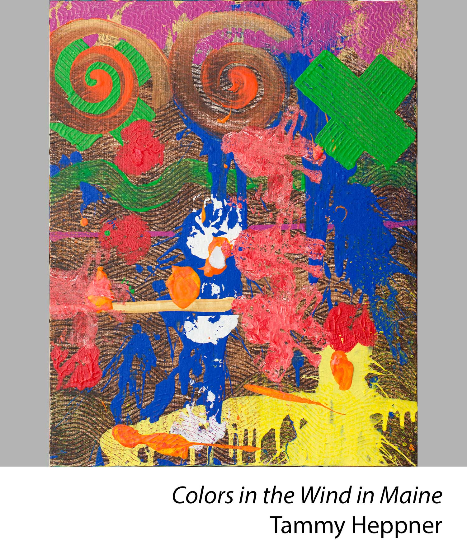 Colors in the wind in Maine by Tammy Heppner